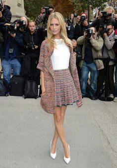 Poppy Delevingne in Chanel tweed
