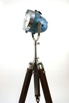 $1600..Vintage Ural Motorcycle Headlight Floor Lamp by TheModernWeld