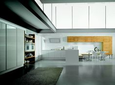 16 Contemporary Kitchen Designs – Contempora Kitchens by Aster Cucine : 16 Modern Kitchen Designs Contempora Kitchens By Aster Cucine With White Wall Kitchen Island Table Sink Oven Stove Refrigerator Dining Table Bar Stool Carpet Ceramic