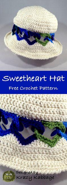 Crochet Linked Hearts Hat Free Pattern – Krazykabbage #crochet #freepattern #fashion #women #style #hat #love #valentinesday