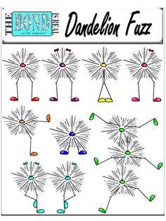 CUTE!  Dandelion Fuzz - Clip Art