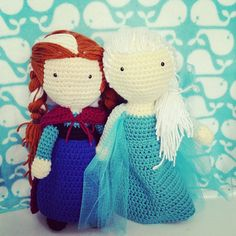 Frozen Inspired Amigurumi Crochet Dolls by KristensKords on Etsy