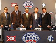 Countdown to Tech's time at the Bowl Game! Here is a picture of coach Kingsbury and LSU head coach, Les Miles, at the Texas Bowl press conference.