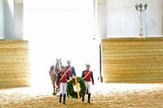 The opening ceremonies of the new Equestrian Complex of the Civil Guard, 'Infanta Elena de Borbon,' are pictured in Valdemoro, in outskirts of Madrid.