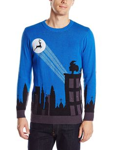 84a8af786ec Blizzard Bay Men s Cityscape Light-Up Ugly Christmas Sweater at Amazon  Men s Clothing store