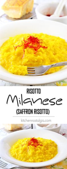 Risotto Milanese - Italian Saffron Risotto done traditional way