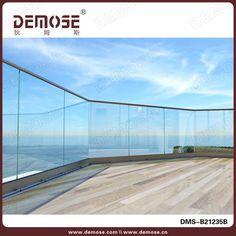 glass balcony railing_Stainless Steel Glass Railing_Demose Stair Railing - All About Balcony Balcony Glass Design, Glass Balcony Railing, Stair Railing, Stairs, Railings, Modern Railing, Screws And Bolts, Apartment Balconies, Aluminium Alloy