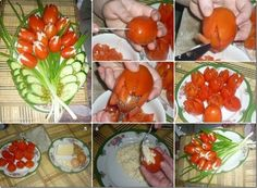 Stuffed tomato flowers are really fun and creative. You can really make something...