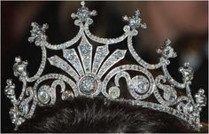 Queen Sophia of Sweden's Nine Prong Tiara, a gift from her husband Oscar II, worn by Queen Silvia.