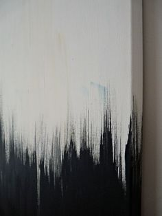Simple But Striking, Black White DIY Abstract Painting