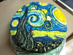 I made a starry night cake for a baby shower that I'm really proud of. I hope you guys like it! - Imgur