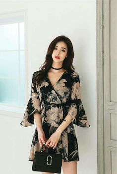 Dress floral korean 30 new Ideas Casual Dresses, Short Dresses, Fashion Dresses, Summer Dresses, New Dress Pattern, Dress Patterns, Floral Homecoming Dresses, Bodycon Outfits, Winter Dress Outfits