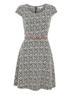 Aztec jacquard dress