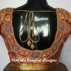 All Ethnic Customization with Hand Embroidery & beautiful Zardosi Art by Expert & Experienced Artist That reflect in Blouse , Lehenga & Sarees Designer creativity that will sunshine You & your Party Worldwide Delivery. Simple Blouse Designs, Bridal Blouse Designs, Saree Blouse Designs, Blouse Styles, Aari Embroidery, Comfort Design, Lehenga Saree, Whatsapp Messenger, Cut Work