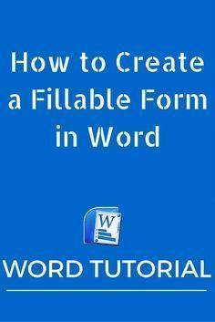 In this post, we show you how to create a fillable form in Word 2010 so that you can use it to collect feedback from clients and customers. Computer Help, Computer Technology, Computer Programming, Computer Tips, Computer Lessons, Computer Science, Energy Technology, Computer Hacking, Computer Literacy