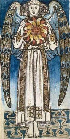 themagicfarawayttree:      William Morris  British, 1834 - 1896  An Angel holding the sun