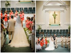 greenville sc wedding photographer photographers weddings at clemson university, tulle wedding gown, pink bridesmaid dresses, church wedding, christian ceremony