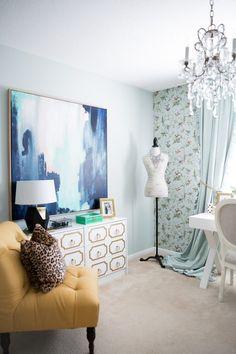 Home Office Tour. - Mia Mia Mine. Home Goods Art, Target Gold Lamp ...
