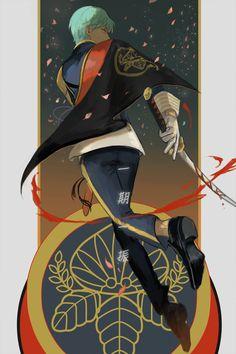 Kai Fine Art is an art website, shows painting and illustration works all over the world. All Anime, Anime Guys, Manga Anime, Japanese History, Samurai Swords, Anime People, Guy Drawing, Touken Ranbu, Anime Characters