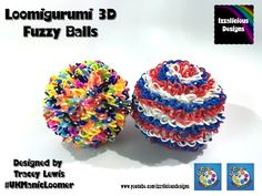 Rainbow Loom Loomigurumi Fuzzy Ball - 3D Ball - YouTube