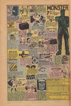 Fake comic book ads 1950s