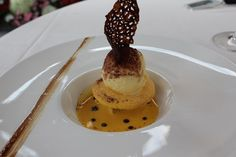 Tiramisu Moderne at the Michelin starred restaurant 'Antica Cornona Reale da Renzo' in Cevere, Piedmont.