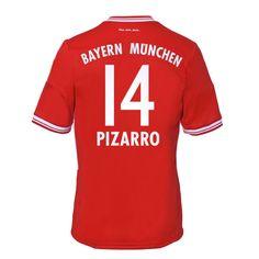 13-14 Bayern Munich #14 Pizzaro Home Soccer Jersey Shirt