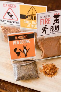 Grilling BBQ rubs - barbecue spices gift set of grilling seasonings - manly gift for guys for Valentine's Day by dellcovespices on Etsy https://www.etsy.com/listing/130868685/grilling-bbq-rubs-barbecue-spices-gift