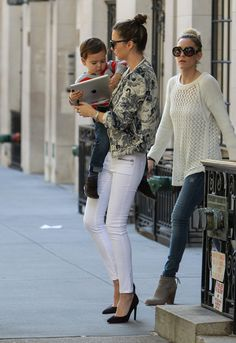 Miranda Kerr Skinny Pants - Miranda Kerr looked every inch the stylish working…