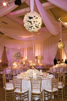 Wedding Decor- Do not care for things hanging from ceiling