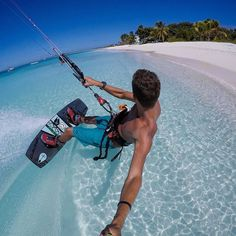 Bounty beaches crystal clear water and wind - what elso do you need? @jakekelsick at Antigua