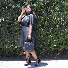 In My Joi: Leather LBD Edition  #plussize #styleblogger