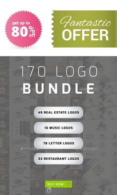 Buy 170 Logos Bundle – Real Estate, Music, Letters & Restaurants by djjeep on GraphicRiver. 170 Logos Bundle is a full package of royalty free creative logos for use across a large portfolio of different busin. Monogram Logo, Monogram Template, Logo Templates, Music Letters, Property Logo, Real Estate Logo, Elegant Logo, Music Logo, Badge Logo