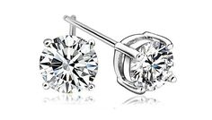 Crystal Stud Earrings; 2 Colours Bring a gleam to your jewellery collection with the Crystal Stud Earrings      Available in either clear crystal or black to suit your style      Set in 925 rhodium plated silver for an elegant finish      Each crystal measures approximately 6mm      Perfect for a gift for someone special or just yourself      This dazzling design complements both day and...