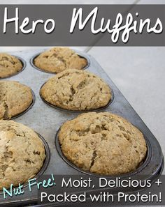 Hero Muffins - Perfect for adding to school lunches!