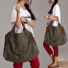 Canvastaschen - #28. MARK ™ Canvas Leder tasche schultertasche - ein Designerstück von ROYALBAGS bei DaWanda