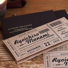 チケット風クラフト招待状(入力印刷込)http://www.farbeco.jp/shopdetail/000000014442/