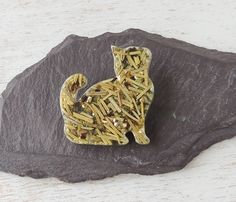 Cat Brooch, Rosemary Cat Shape Resin Brooch, Rosemary Brooch, Cat Jewellery, Rosemary Jewellery, Resin Jewelery, Animal Jewellery, UK. 651a by JustKJewellery on Etsy https://www.etsy.com/listing/526535967/cat-brooch-rosemary-cat-shape-resin