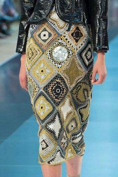 Crochet Granny Skirt - Crochet Inspiration - No Pattern - (livingly)