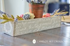 Camelot Art Creations: DIY Pallet Flower Box { Tutorial }