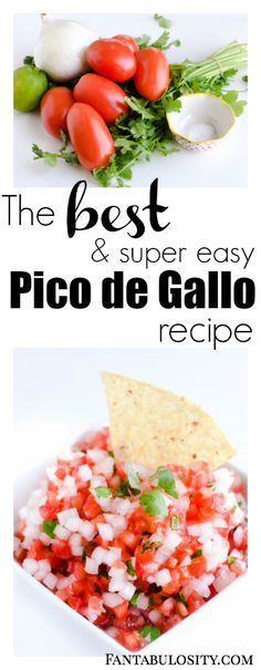 This is the BEST because of the little secret! Easy Pico De Gallo Recipe: Doing this one simple step during the process will MAKE this your favorite homemade pico recipe! - pico de gayo, gallow, galla