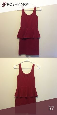 Red Peplum Dress Red peplum dress Forever 21 Dresses Mini