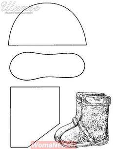 Materiales gráficos Gaby: Botas con moldes ideal como salida laboral