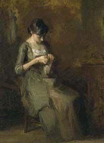 Woman Sewing (Susan Eakins)