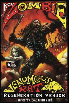 Rob Zombie Venomous Rat Regeneration Vendor ad by Alex Horley