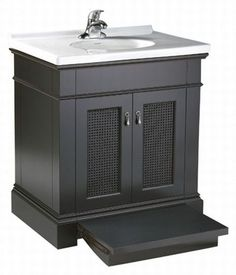 """American Standard 9210.030 Portsmouth 30"""" Vanity Cabinet only with Slide-Out St Dark Chocolate Fixture Vanity Single"""