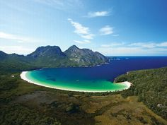 Wineglass Bay - An easy day walk usually starts at the Freycinet Peninsula's car park. The track leads south-south-east from the car park down and across a small gully. The area is relatively dry but it supports wide array of seasonal wildflowers.