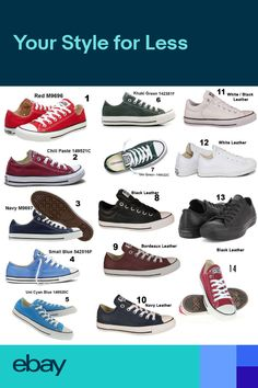 aa9ab059840b LADIES CONVERSE MENS ALL STARS OX LO BOYS GIRLS CHUCK TAYLOR TRAINERS SIZES  3-11