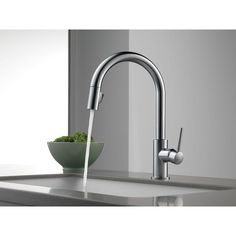 Delta Faucet 9159-AR-DST Trinsic Arctic Stainless Pullout Spray Kitchen Faucets |eFaucets.com