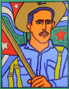 Raúl Martínez's Blue Militia Man from 1970